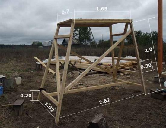 Как сделать самому леса строительные