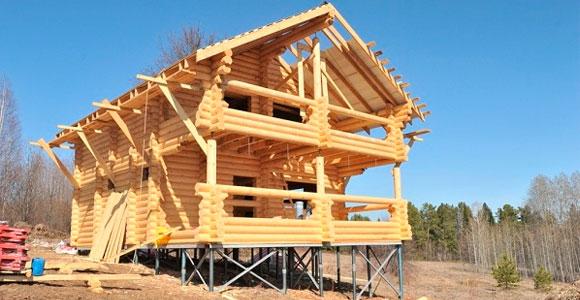Винтовой фундамент для деревянных домов